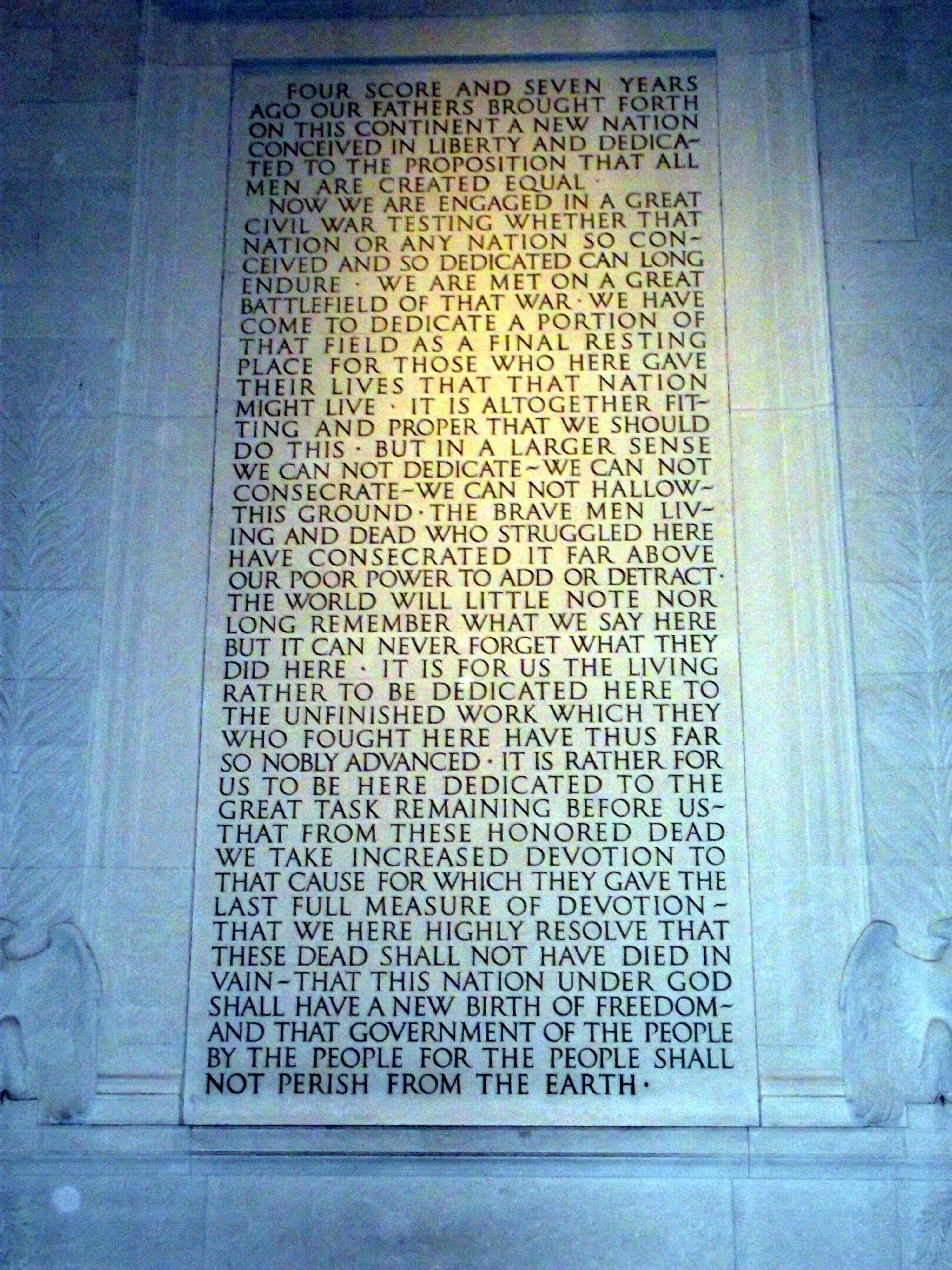File Gettysburg Address In The Lincoln Memorial