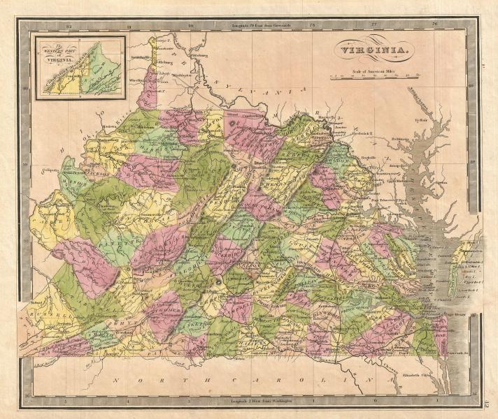 File 1848 Greenleaf Map of Virginia   Geographicus   Virginia     File 1848 Greenleaf Map of Virginia   Geographicus   Virginia  greenleaf 1848