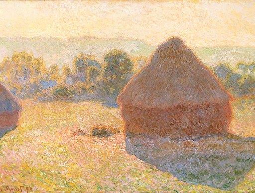 Meules, milieu du jour by Claude Monet