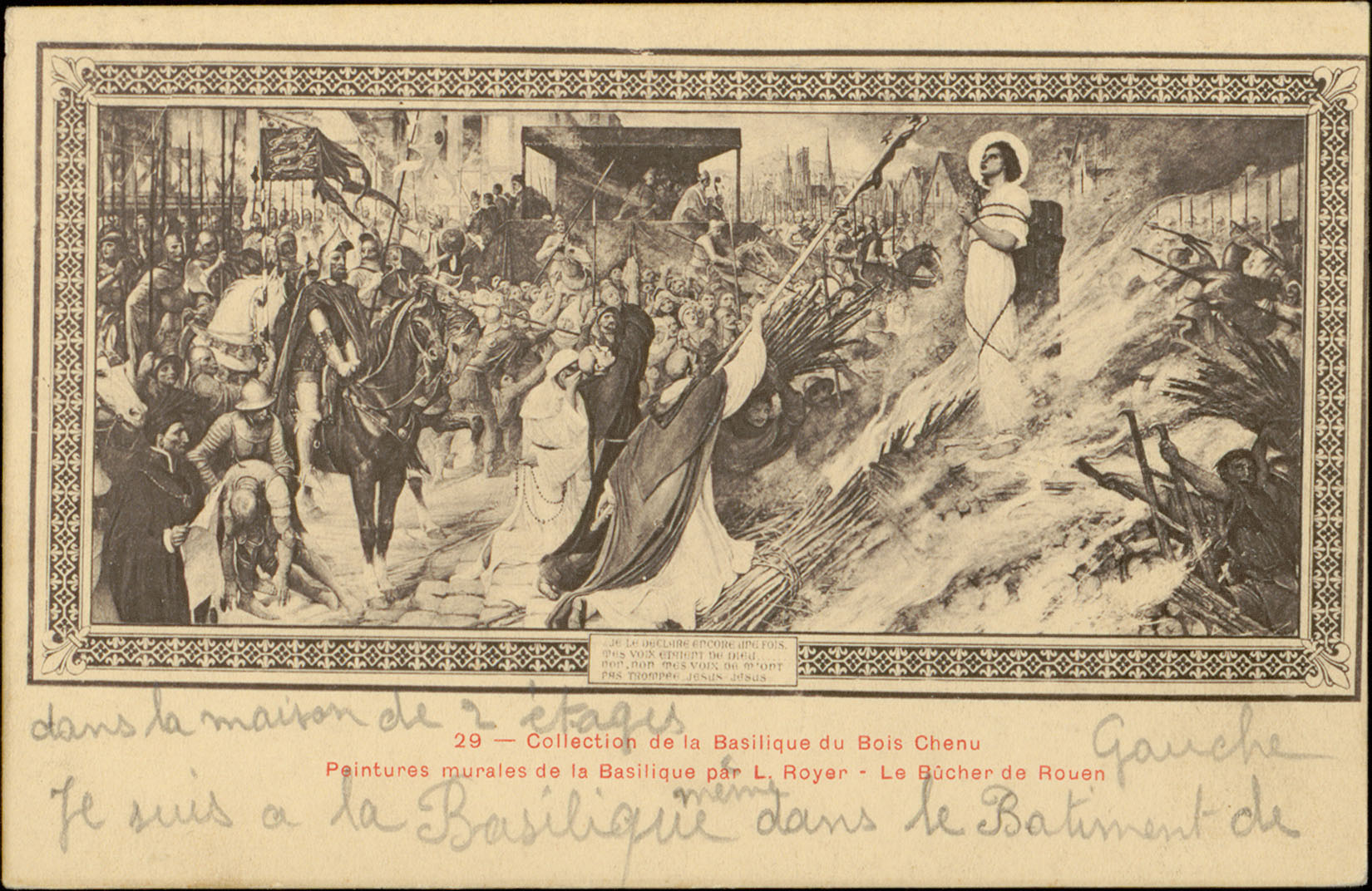 file collection de la basilique du bois chenu peintures murales de la basilique par l royer le bucher cp 5507 pr jpg wikimedia commons
