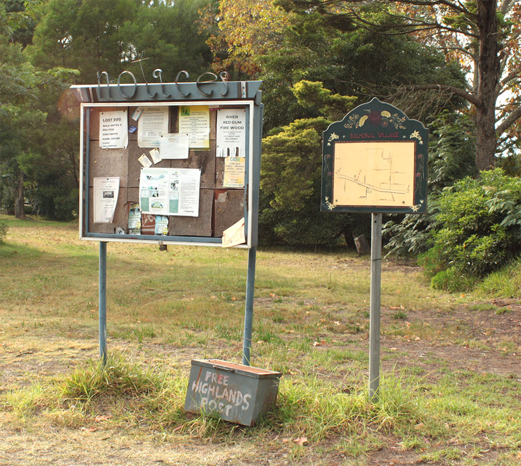 Village notice board