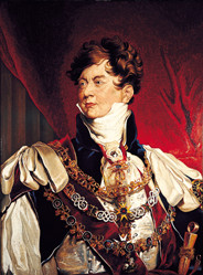 Portrait of King George IV, painted by Sir Tho...