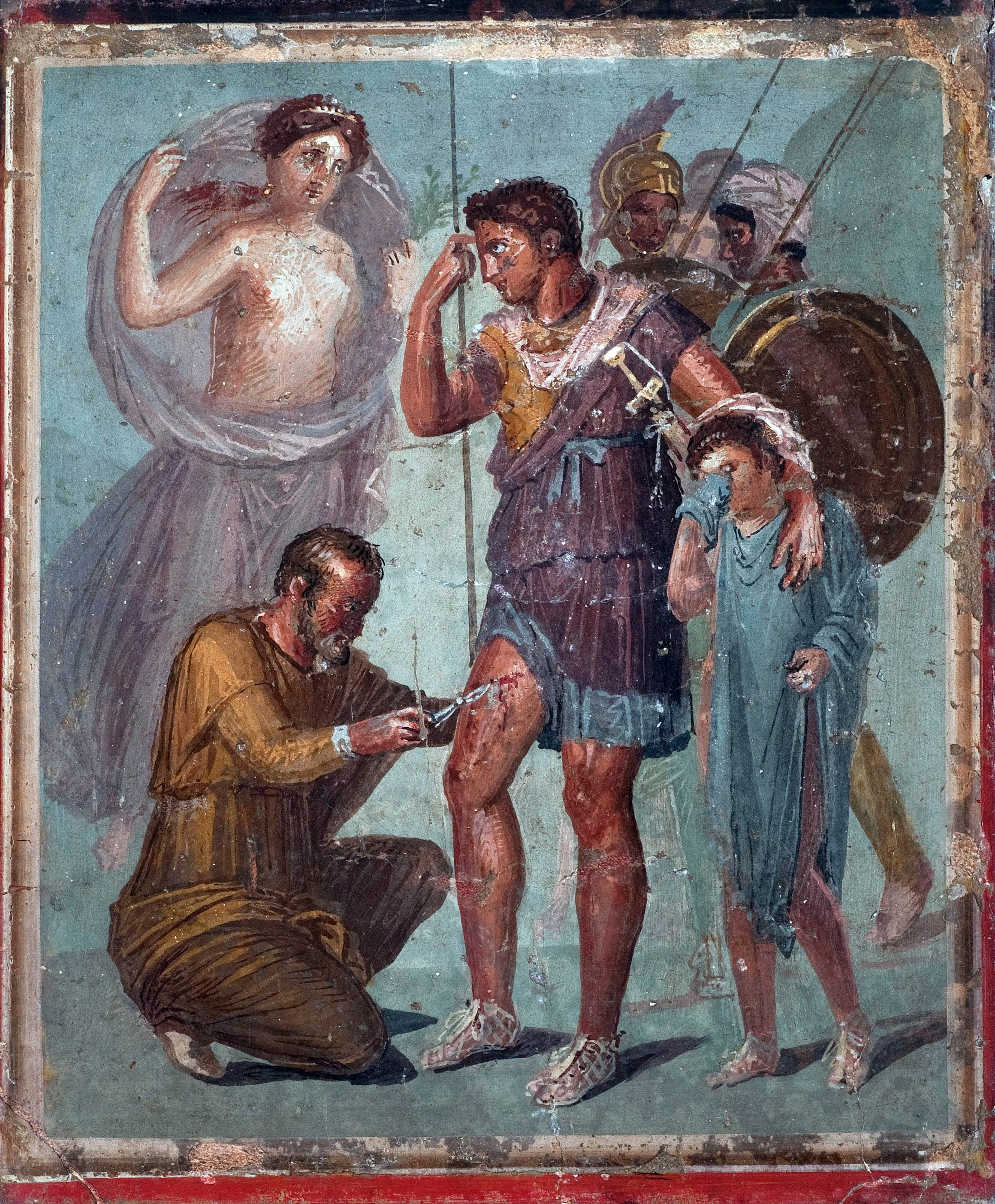 Iapyx removing an arrowhead from the leg of Aeneas