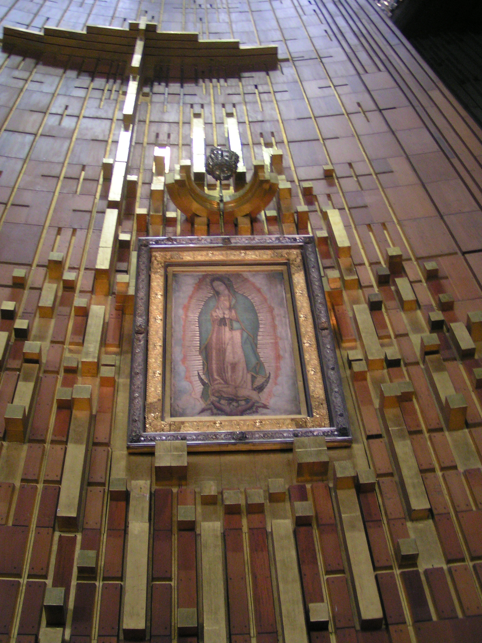 The original image in the Basilica of Our Lady of Guadalupe | Image source: Wikipedia