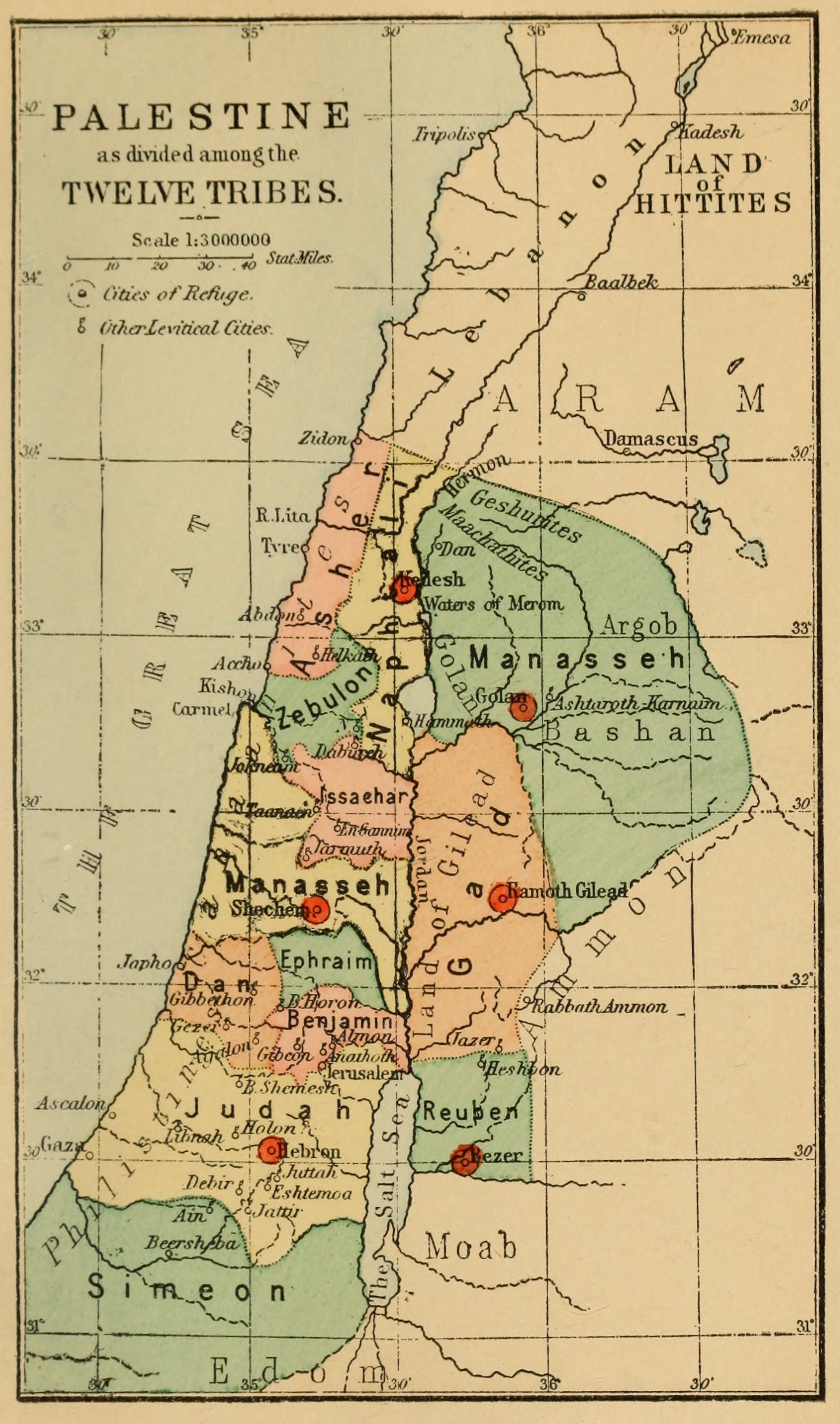 File Palestine As Divided Among The Twelve Tribes