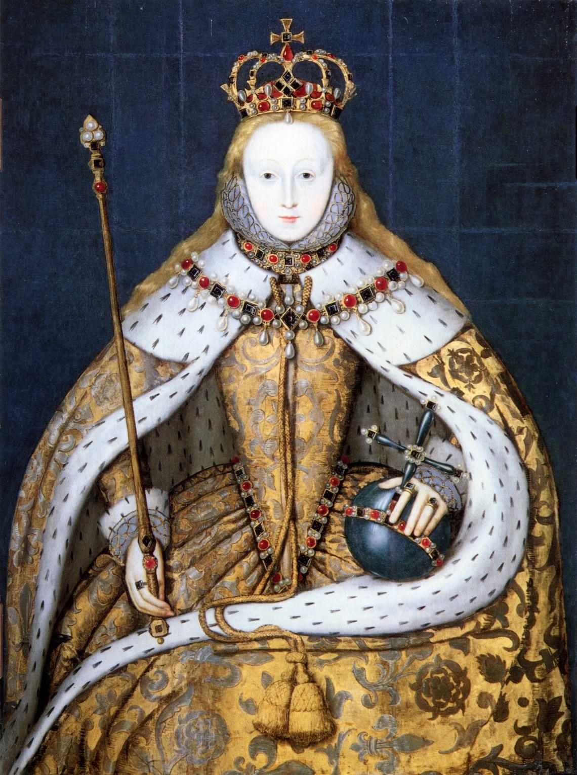 Elizabeth I in coronation robes 1600s Fashion