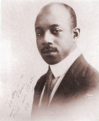 The image of composer, Eubie Blake (1887-1983).