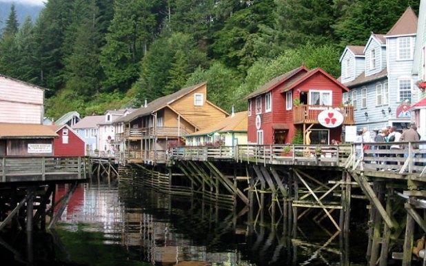 Creek Street in Ketchikan, Alaska. Photo taken by Eugeniy Kalinin.