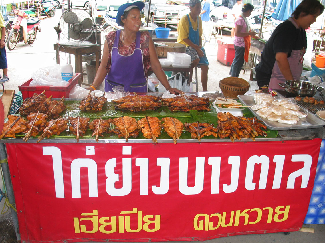Gai yang cart in Thailand