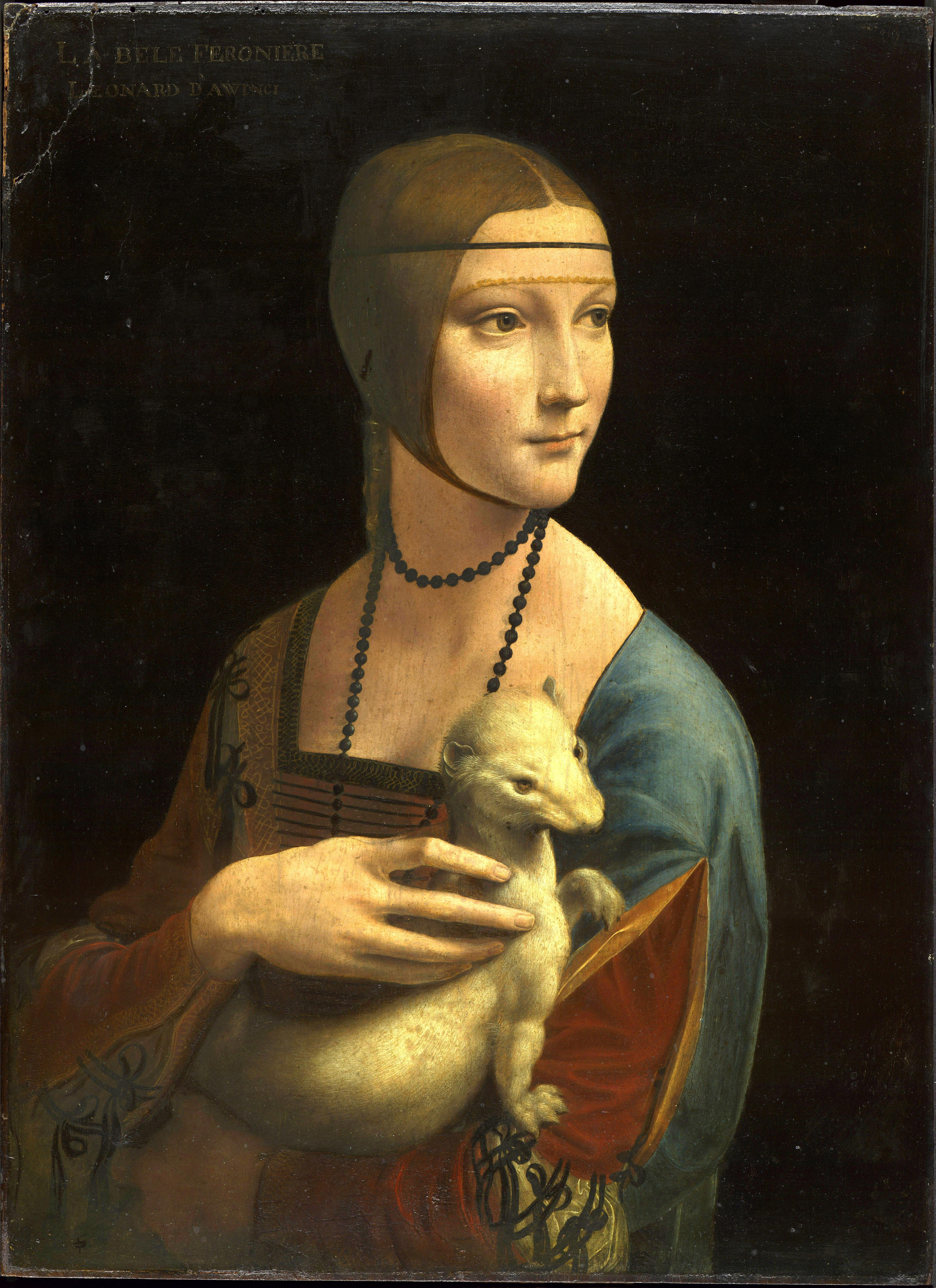 Leonardo da Vinci, Portrait Cecilia Gallerani 1489