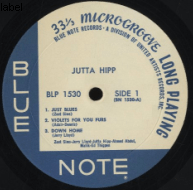 record-label of vinyl-record from Jutta Hipp o...