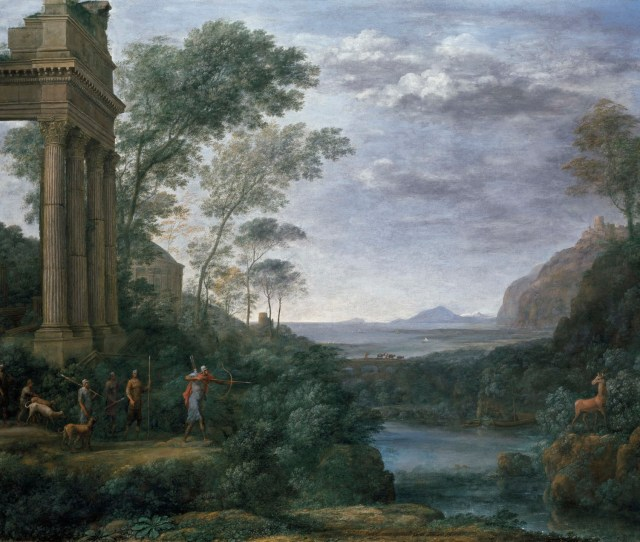 Claude Lorrain Ascanius Shooting The Stag Of Sylvia  The Landscape As History Painting
