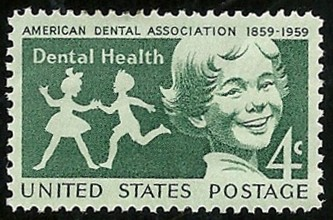 English: ADA/Dental Health on US postage stamp