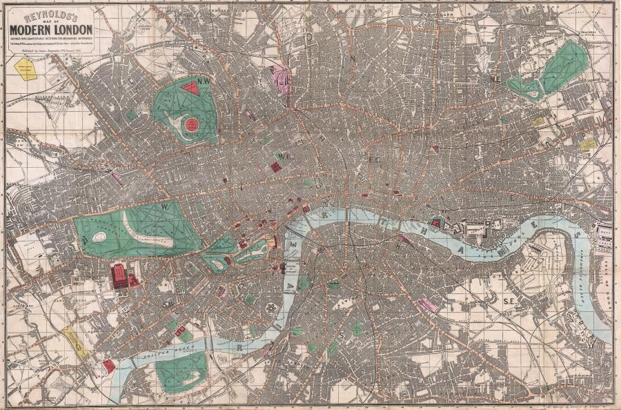 File 1862 Reynolds Pocket Map of London  England   Geographicus     File 1862 Reynolds Pocket Map of London  England   Geographicus   London  reynolds
