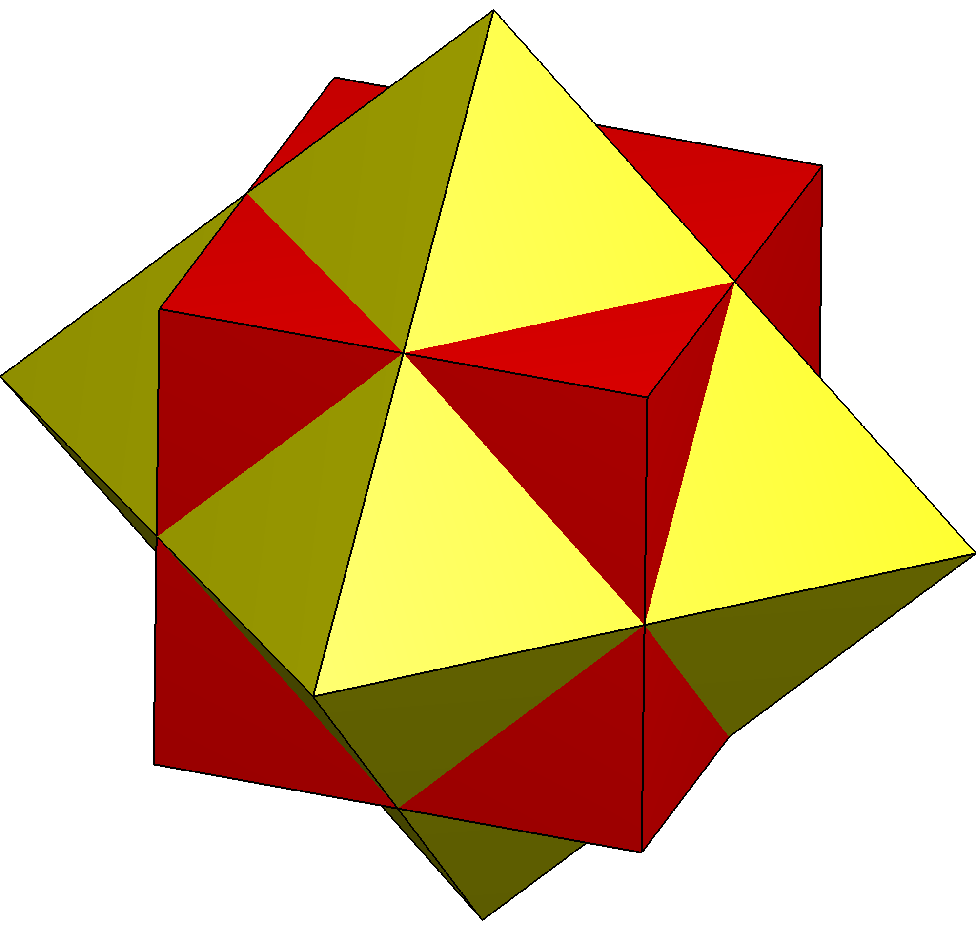 Compound Of Cube And Octahedron