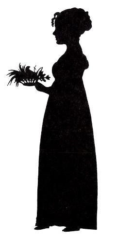 Silhoutte of Marichen Ibsen (1799-1869) as a y...