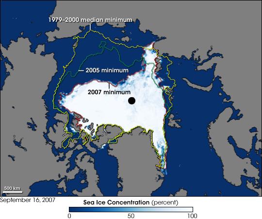 Observations sur la banquise arctique