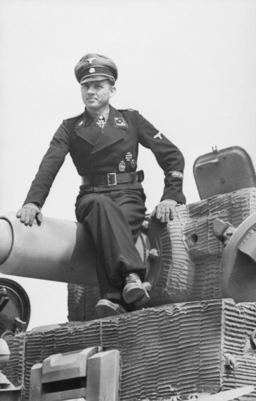 German tank commander Michael Wittman, photogr...
