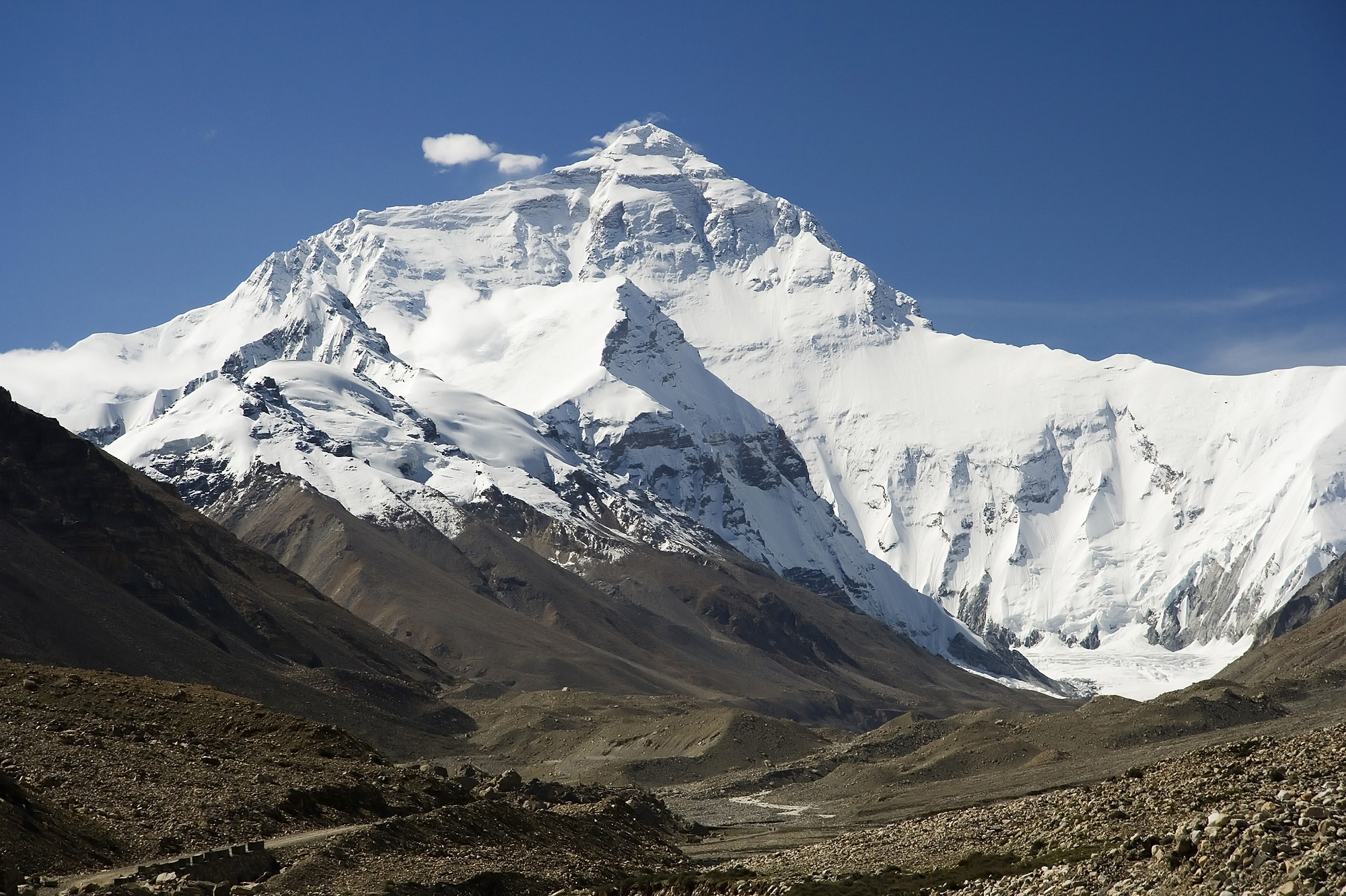 English: Mount Everest North Face as seen from...