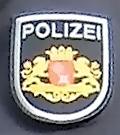 Deutsch: Ärmelabzeichen der Polizei Bremen (be...