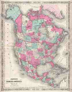 File 1864 Johnson Map Of North America Canada United States Mexico Geographicus Amernorth Johnson 1864 Jpg Wikimedia Commons