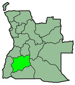 A map from province Huila, Angola Español: Map...