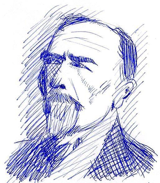 Joseph Conrad, rätselhafte Zeichnung