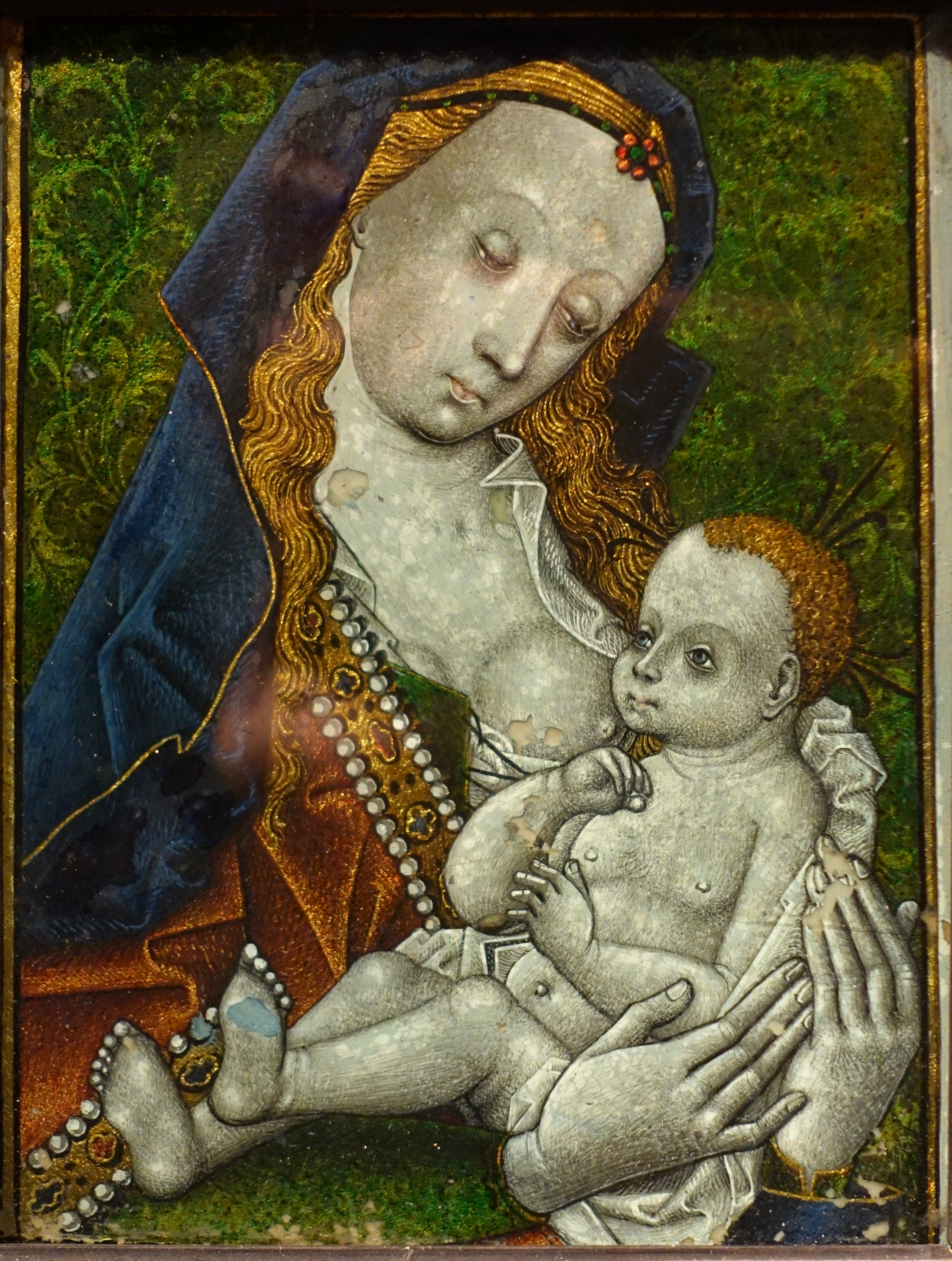 File Virgin And Child Netherlands Reverse Glass Painting
