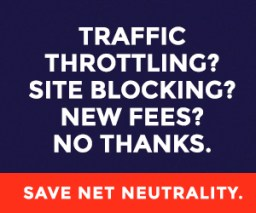 Day of Action to Save Net Neutrality net neutrality banner ad