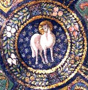 Lamb of God (mosaic in Basilica of San Vitale, Ravenna).