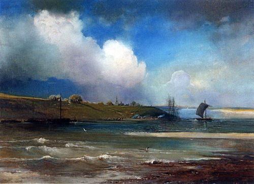 Резултат с изображение за русская живопис весна море