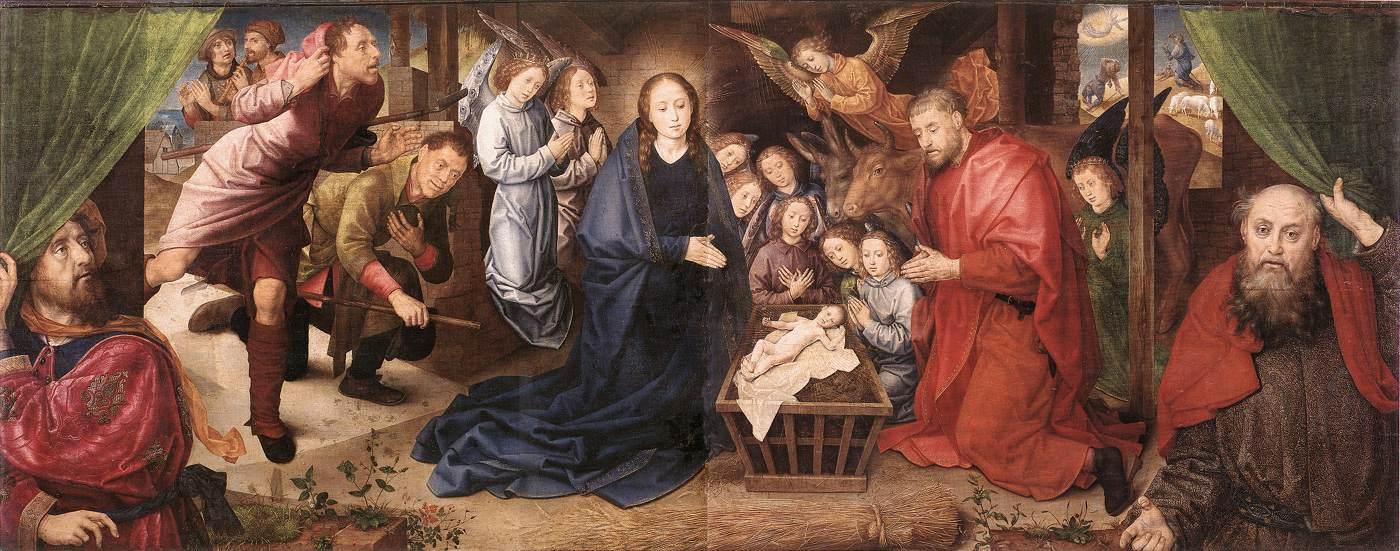 Hugo van der Goes (about 1440-1482). Adoration of the Shepherds.