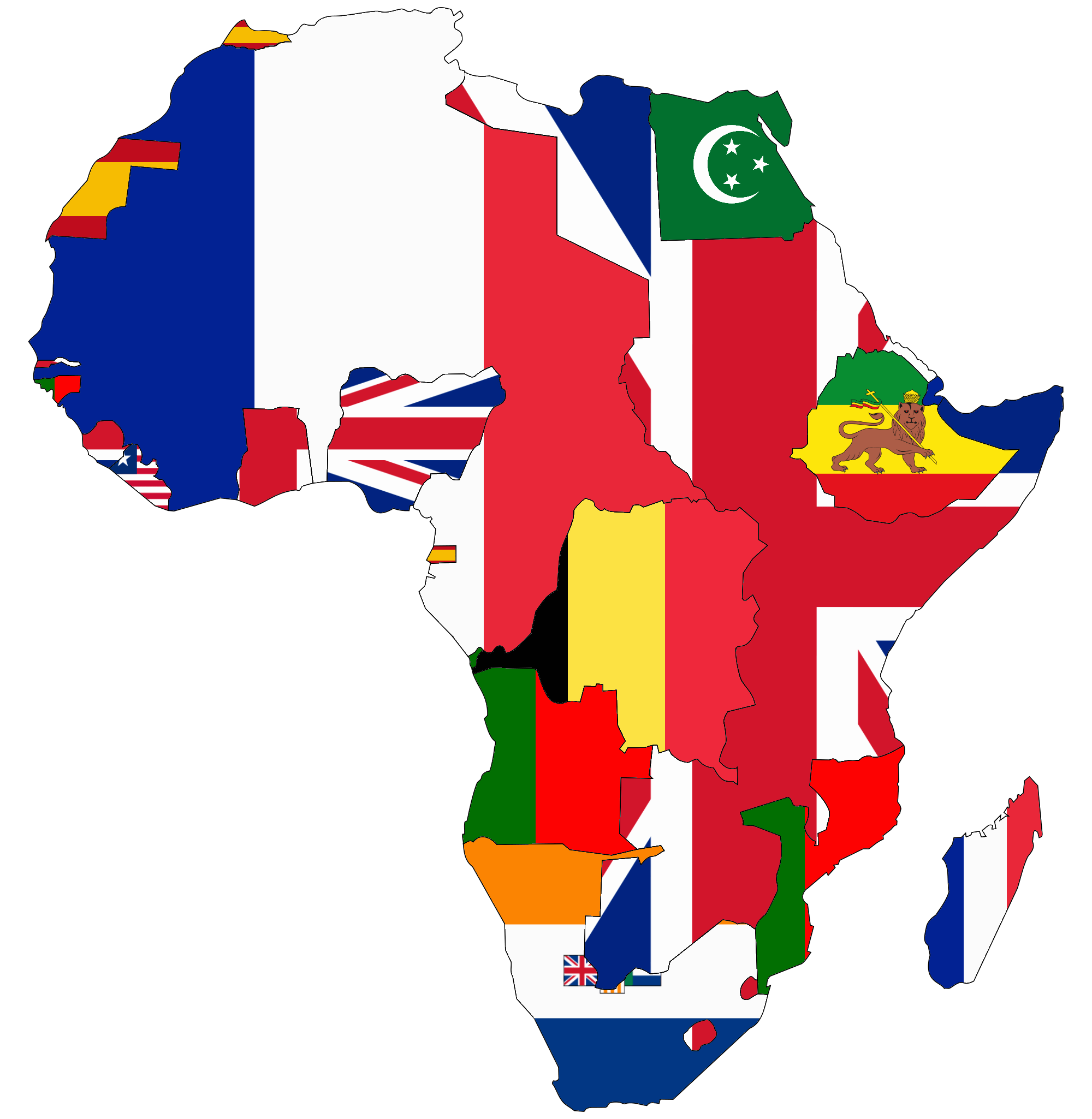 File Flag Map Of Colonial Africa