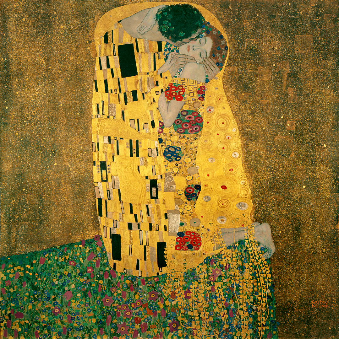 The Kiss 1907–1908. Oil on canvas. Österreichi...