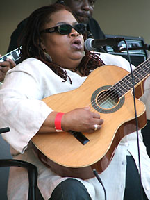 English: Karen Carroll, Chicago Blues Muscian ...
