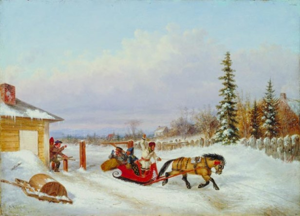 'The Toll Gate', oil on canvas painting by Cornelius Krieghoff, 1861, National Gallery of Canada