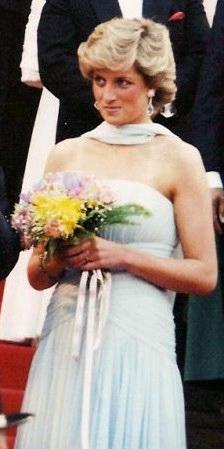 English: Diana, Princess of Wales, at the Cann...