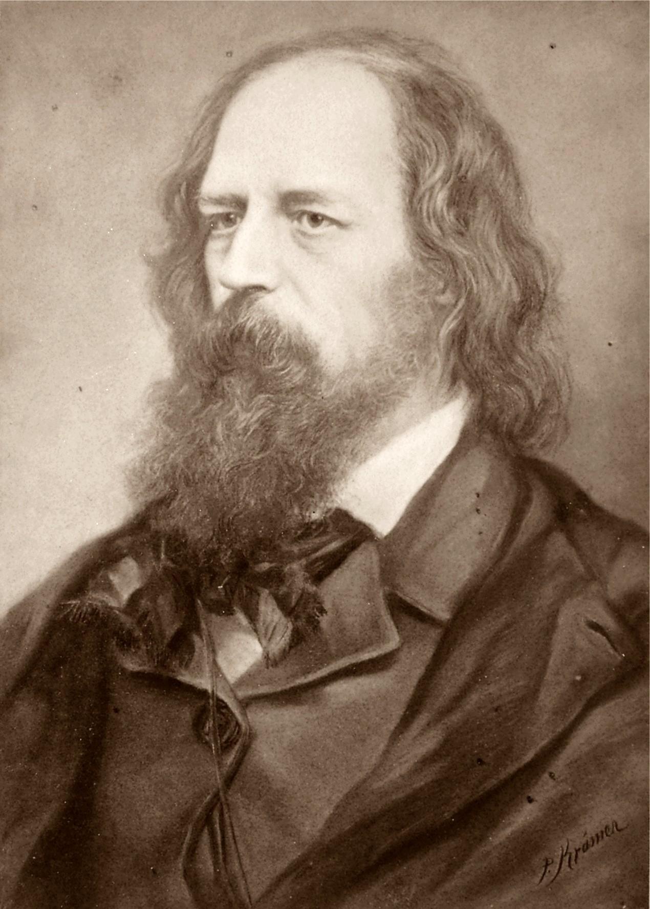 Deutsch: Alfred Lord Tennyson 1809-1892 englis...