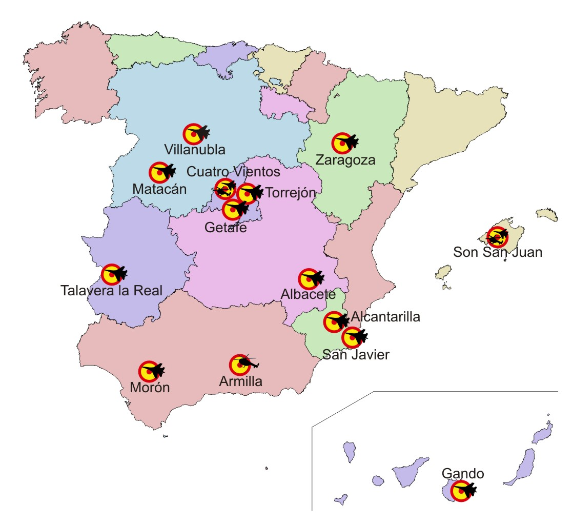 Spanish Air Force Order Of Battle