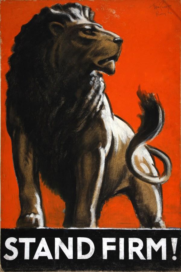 File:INF3-128 War Effort Stand Firm (Lion) Artist Tom ...