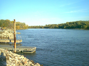 The Missouri River at Omaha, Nebraska, USA Pho...