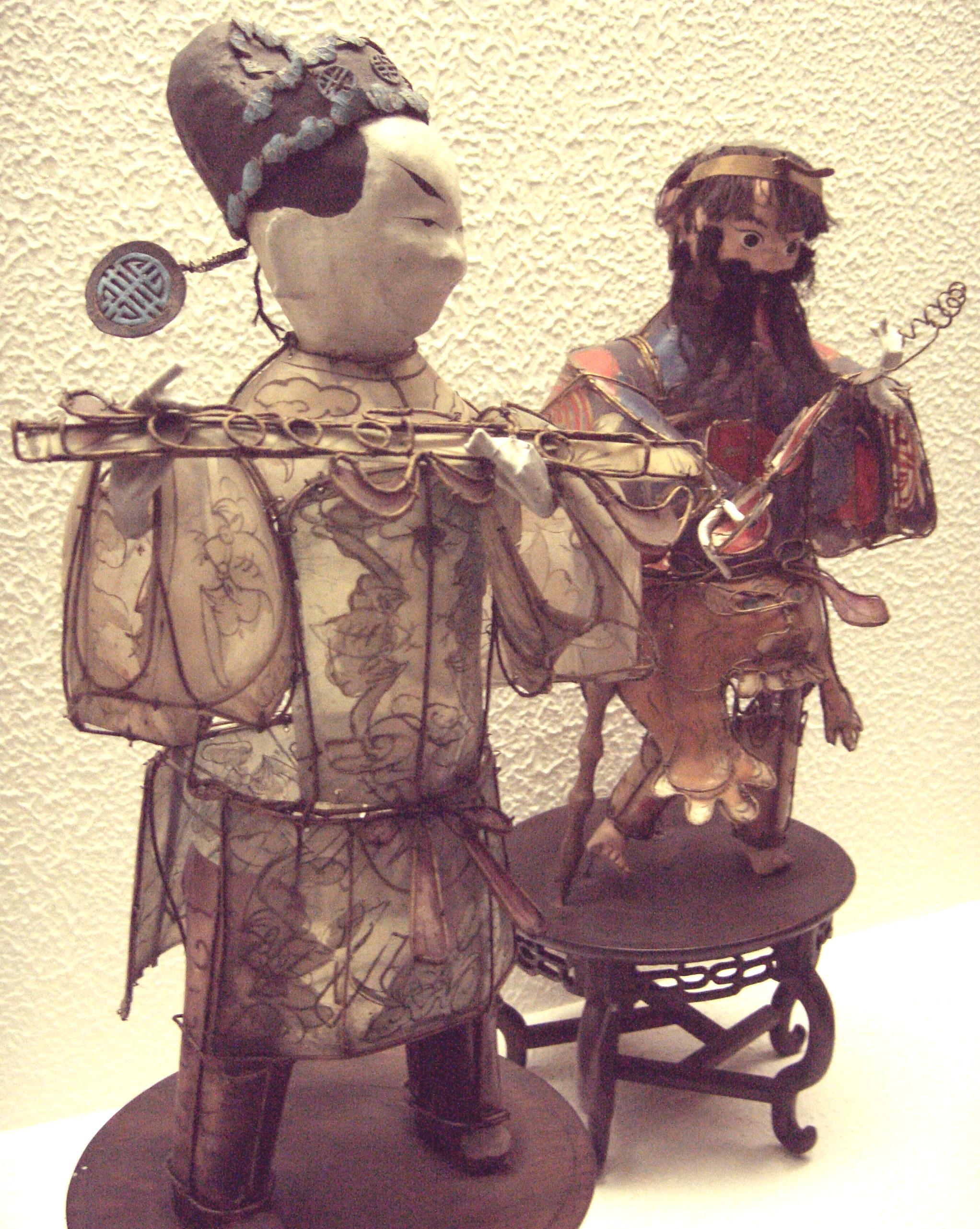 antike chinesische Neujahrslaternen die wie die 8 Unsterblichen geformt sind, Qing Dynasty, Foto von Dr. Meierhofer, Gnu freie Dokumentation Lizenz