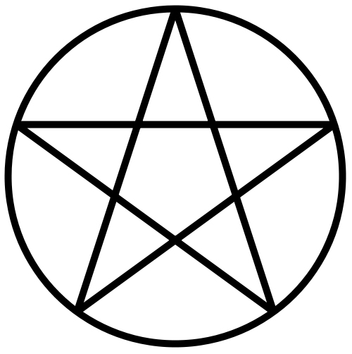English: A circumscribed pentagram.