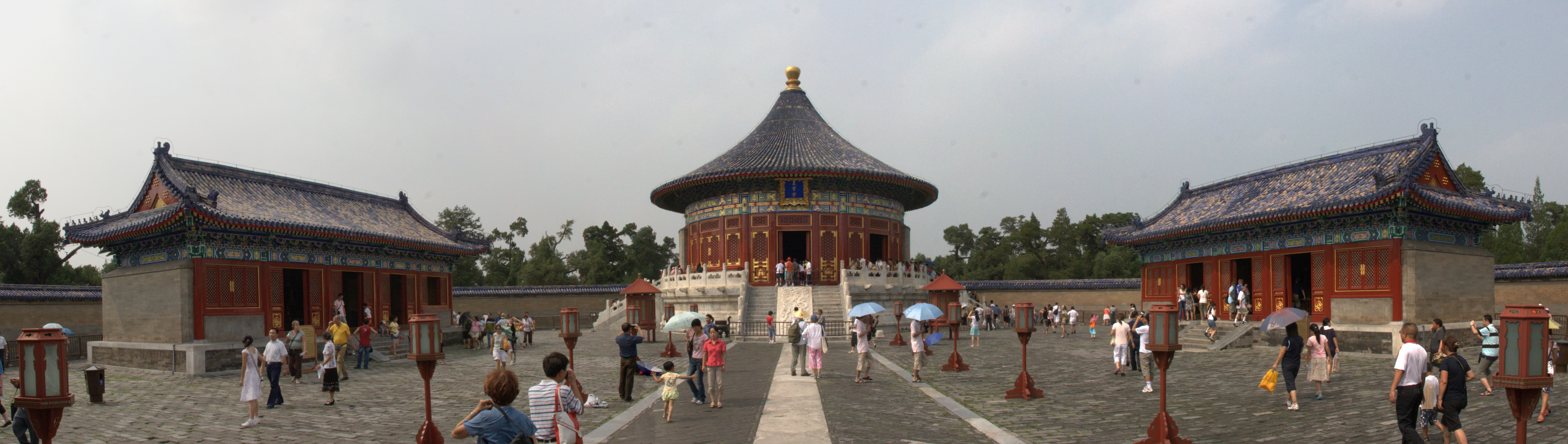 Panorama from the opposite view of the Imperial Vault of Heaven.