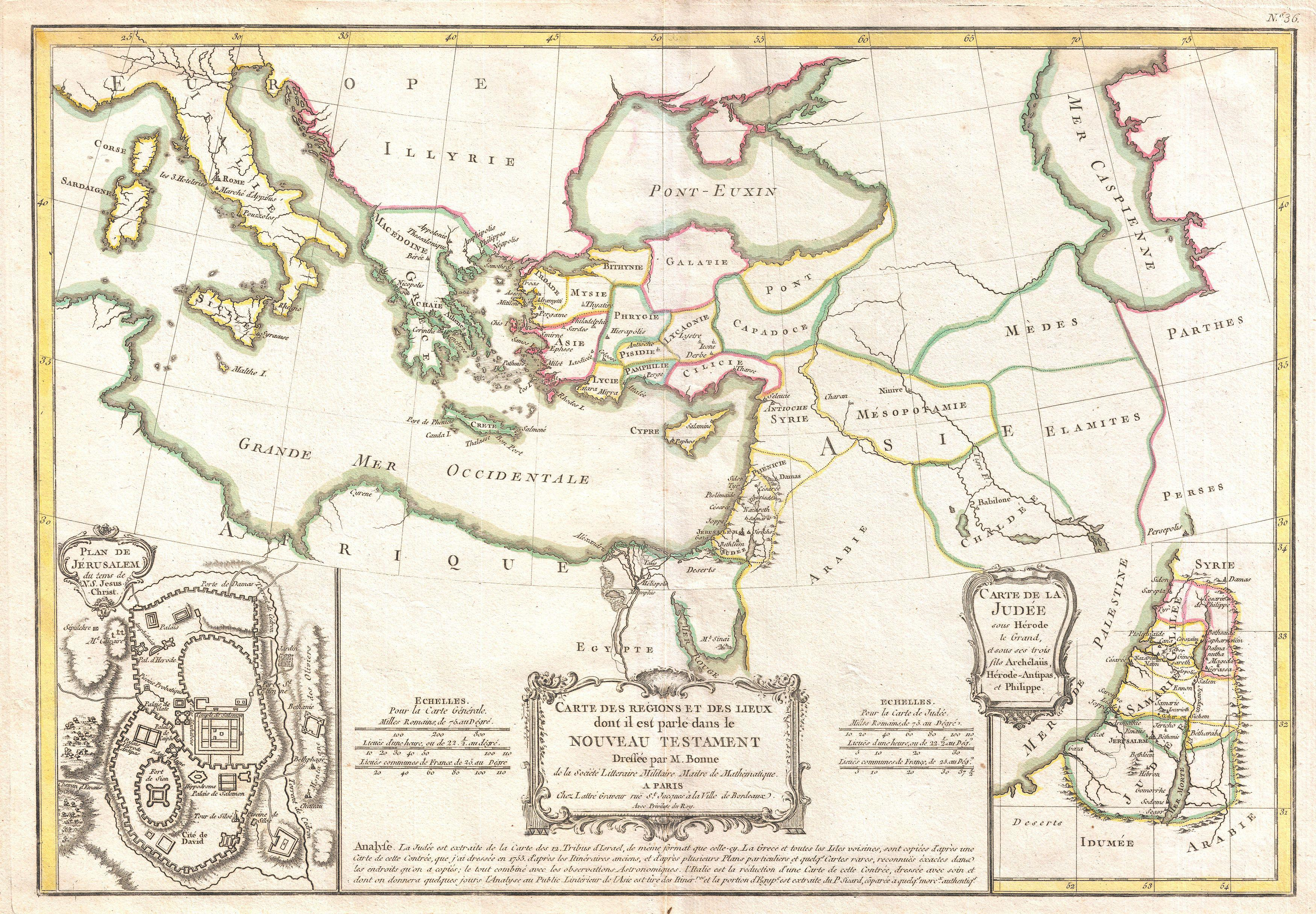 File Bonne Map Of The New Testament Lands W Holy