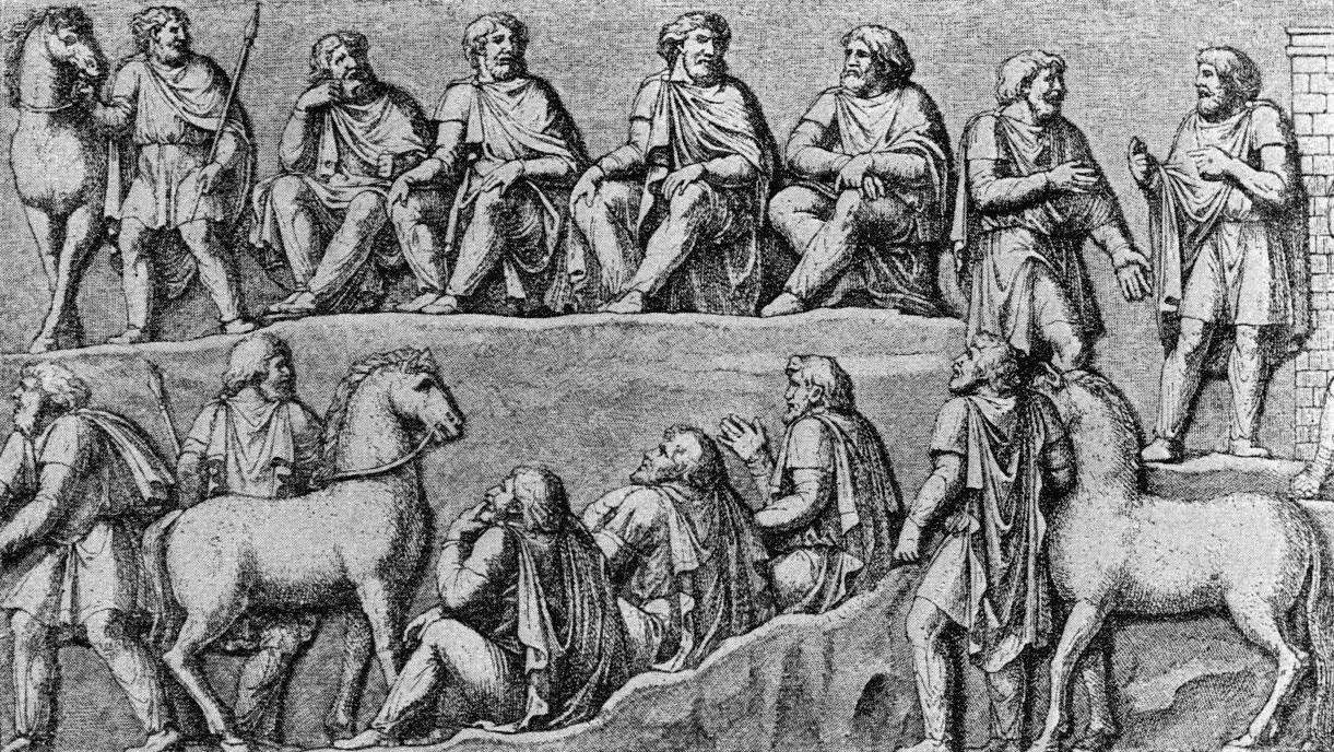 Germaanse raadsbijeenkomst (Zuil van Marcus Aurelius, Rome)