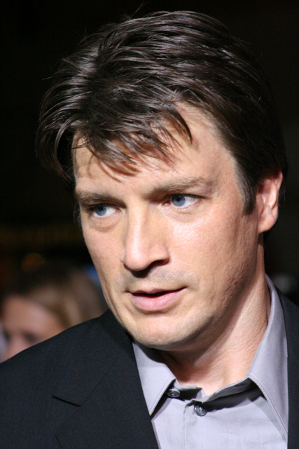Nathan Fillion at the 2005 Serenity premiere.