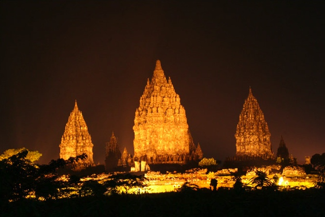 Prambanan At Night