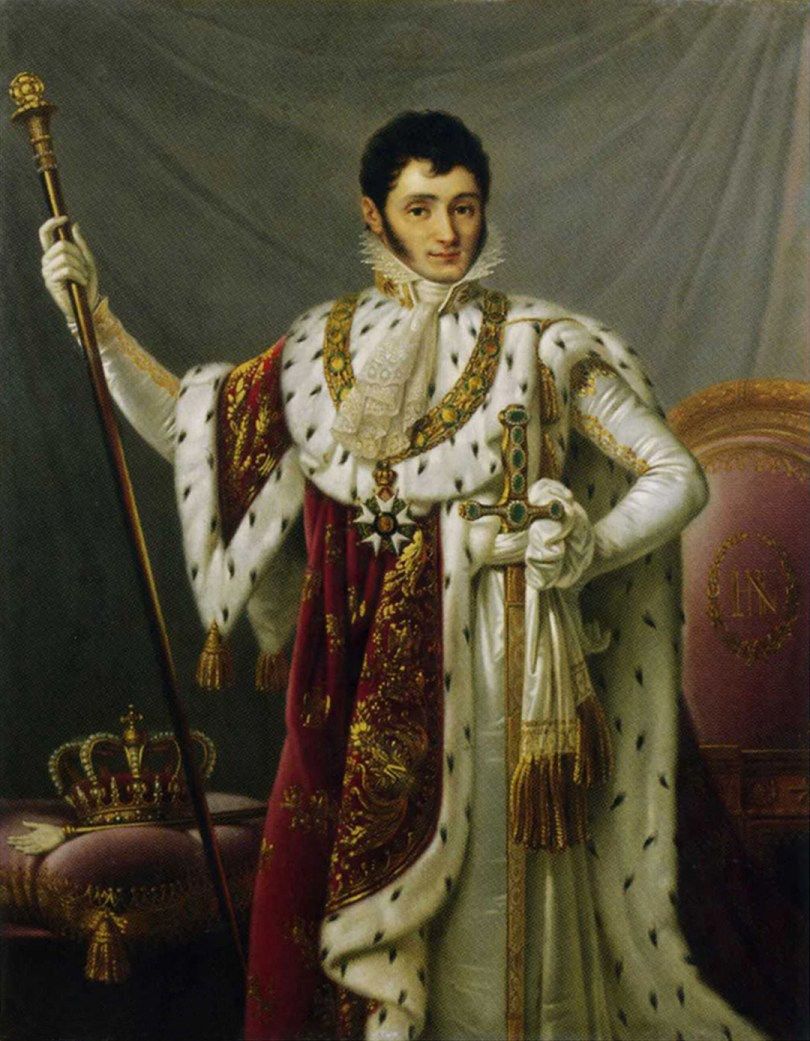 Jerome in his robes as king.