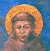 San Francesco d'Assisi, affresco di Cimabue, basilica di Assisi.